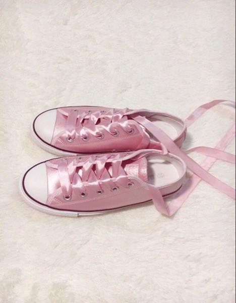 8535d1b0940 Pink Satin Ribbon Sneakers · Drew s Closet · Online Store Powered by ...