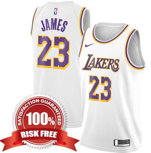 c7197781c LeBron James  23 Los Angeles Lakers White 2018 19 Men Replica Jersey