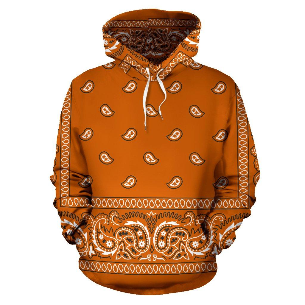 9f55847a2f Bandana Fever Orange Bandana Print Pullover Hoodie from Bandana Fever  Designs