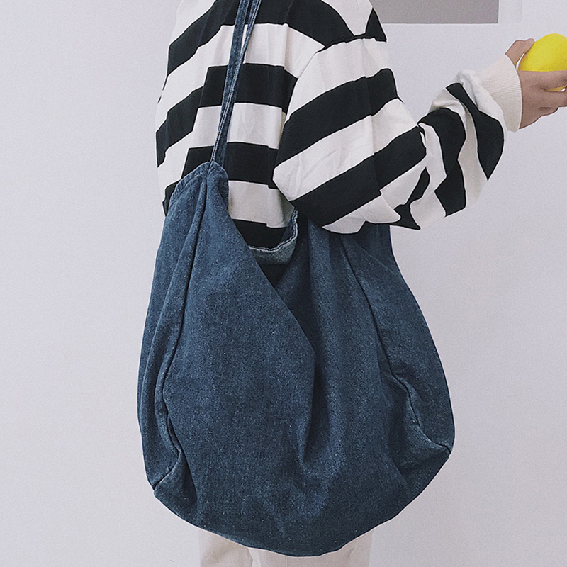 release date hot-selling authentic purchase newest LARGE VOLUME DEEP BLUE DENIM TOTE BAG sold by soldrelax