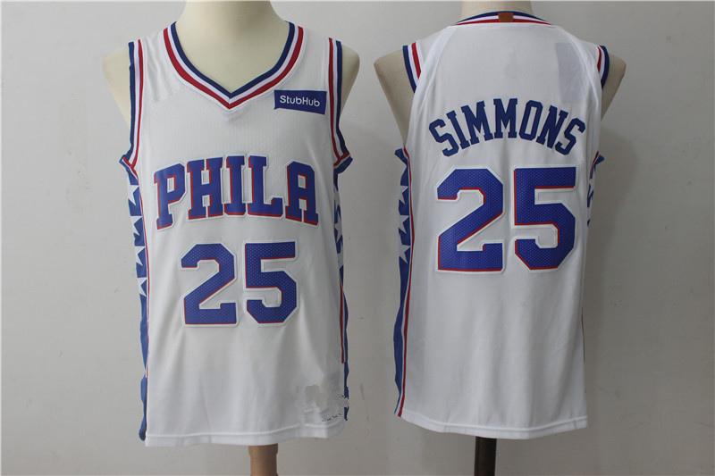 3e2e1fa7f Men s Philadelphia 76ers Ben Simmons Fanatics Branded White Fast Break  Replica Jersey - Player version