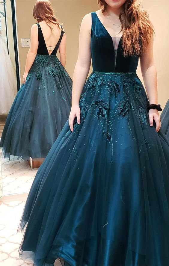 0a4e9e563f0d7 Elegant Dark Green Long Ball Gown, 2019 Prom Dress, Gorgeous Long Prom  Dress,F0270 from DressyBridal