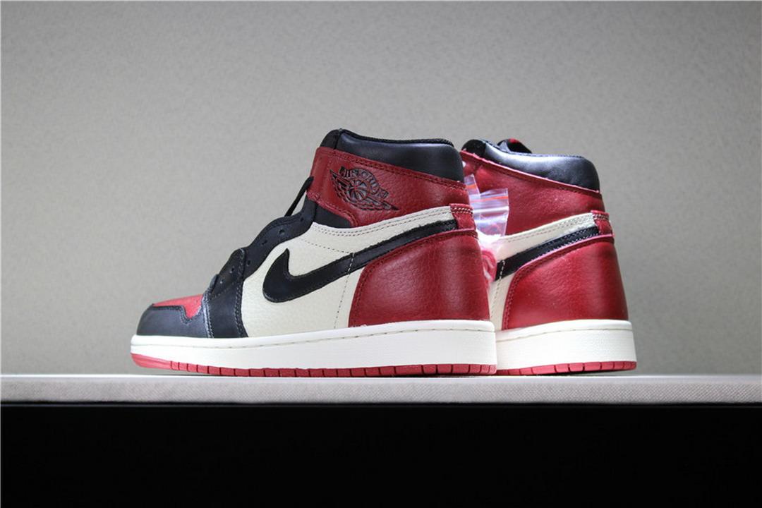 1dbe00358c1 Men Air Retro 1 Bred Toe Shoes Men Basketball Shoes On Sale ...