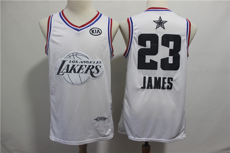 100% authentic 8b318 57031 2019 All-Star Game Los Angeles Lakers 23 LeBron James White Jersey sold by  vsport