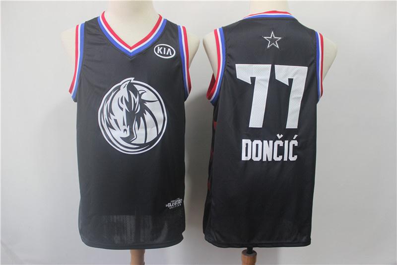058a85f248e 2019 All-Star Game Men s Dallas Mavericks 77 Luka Doncic Black Jersey