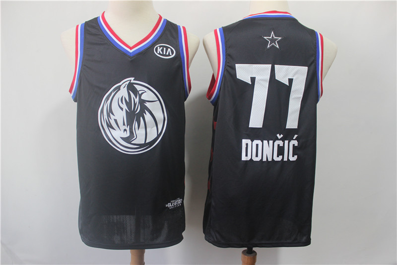 326f37cbbcb6 2019 All-Star Game Men s Dallas Mavericks 77 Luka Doncic Black Jersey
