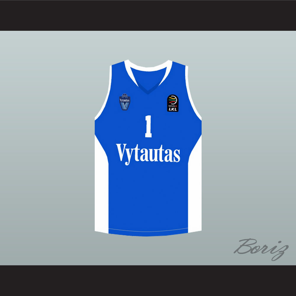 e2f3e918eb93 Lamelo Ball 1 Lithuania Vytautas Blue Basketball Jersey ...