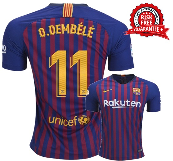 los angeles 331f6 7e775 Ousmane Dembele #11 FC Barcelona Home Jersey Men 2018 2019 Shirt Blue  Soccer from JeisyShop