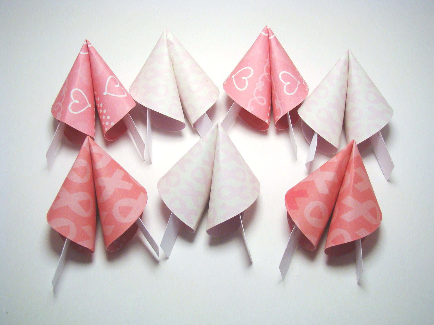Breast Cancer Awareness Origami Fortune Cookies - Set of ... - photo#32