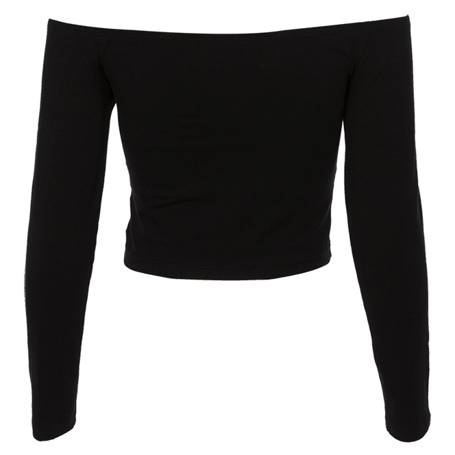b9c7bc63f6613 Sunflower Off Shoulder Crop Top (Black) · Megoosta Fashion · Free ...