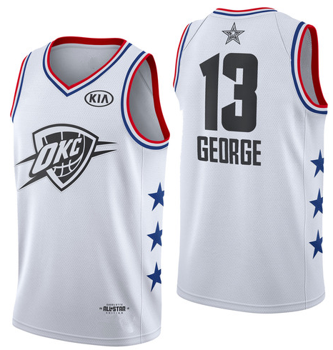 a7873d4d3 Men s Oklahoma City Thunder 13 Paul George White 2019 All-Star Game  Finished Swingman Jersey