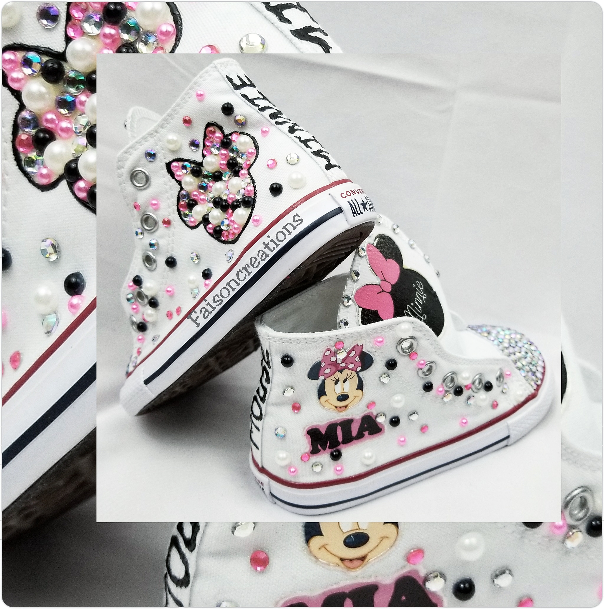 Toddler Custom Minnie Mouse Converse · FaisonCreations · Online ...
