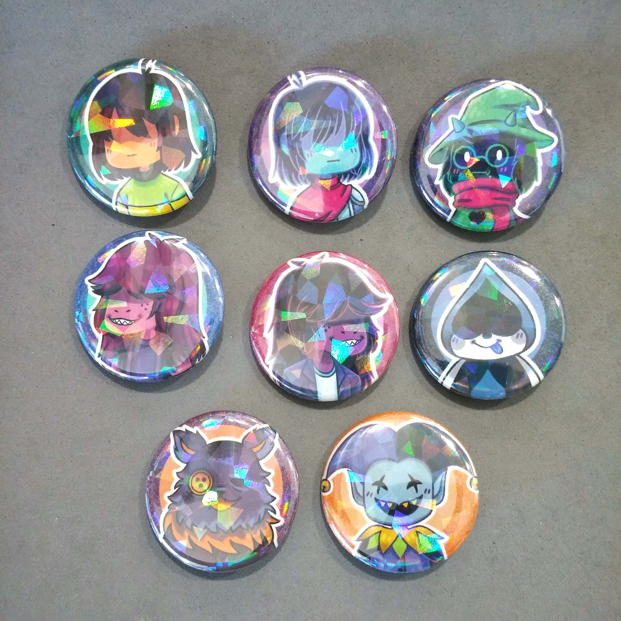 Deltarune Holographic Buttons
