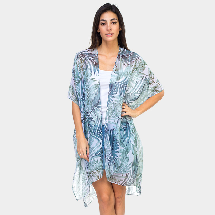 226f7ed2cb Palm Print Sheer Kimono   Belle of the Boulevard   Online Store ...