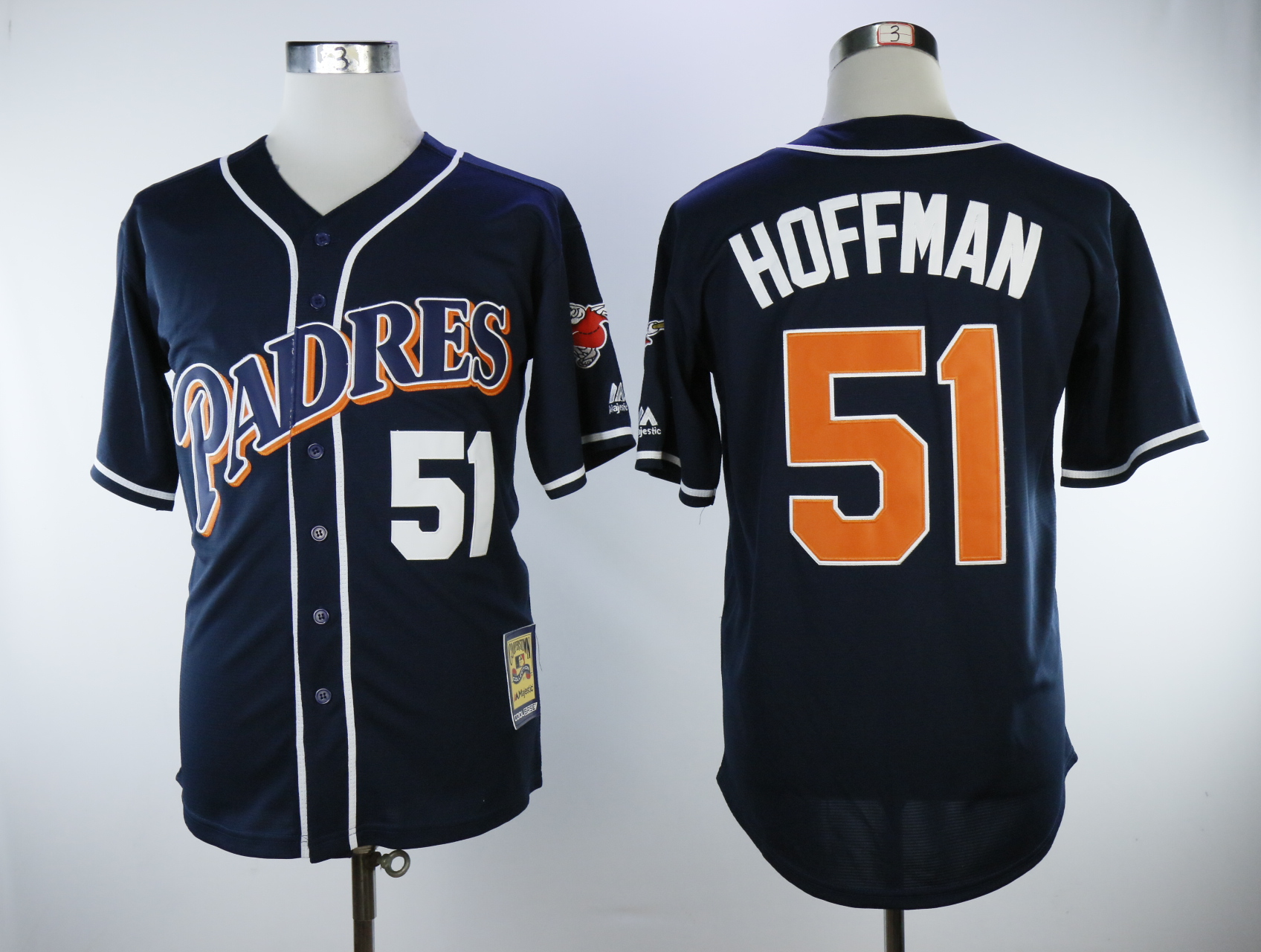 a95c0c1c87b Men s San Diego Padres  5 Trevor Hoffman Jersey Thowback Navy Baseball  Jerseys