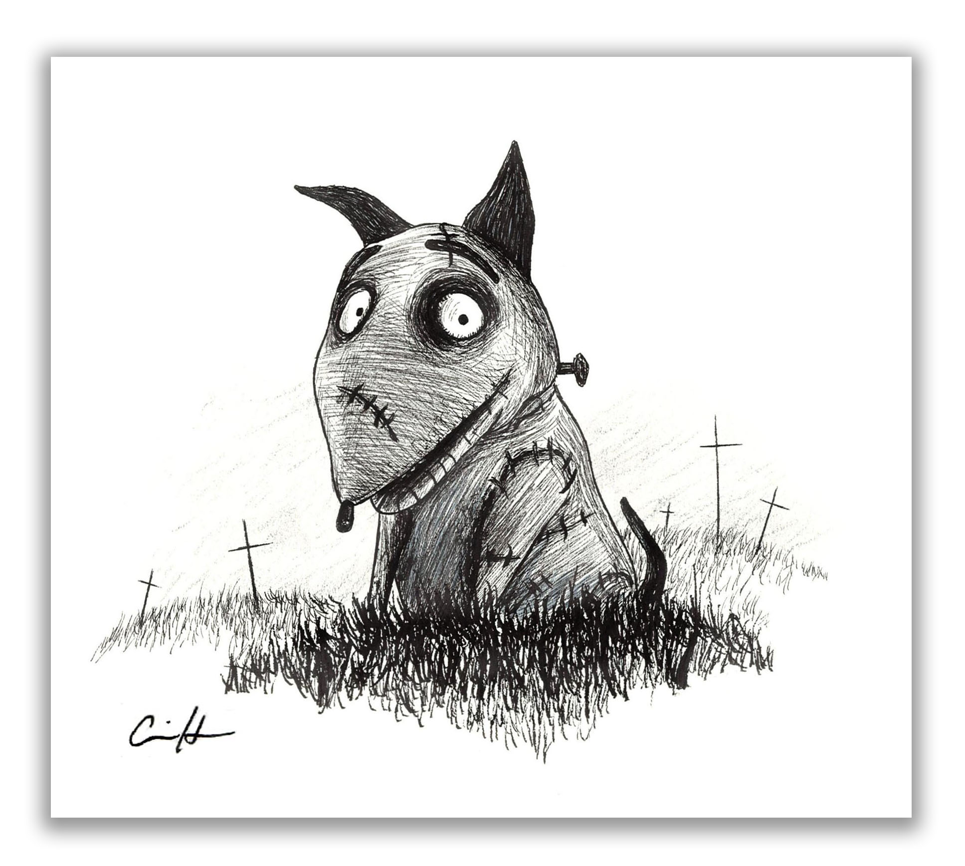 Frankenweenie Small Giclee Print Carrie Anne Hudson Art Online Store Powered By Storenvy