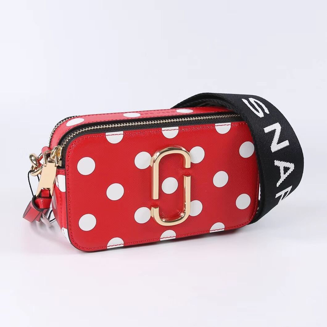 Velsete Marc Jacobs Snapshot Small Dot Camera Bag Crossbody Red Auth sold VT-89