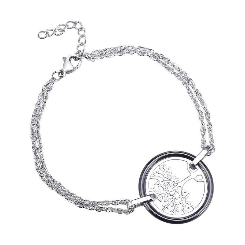 1PC Life Tree Pendant Stainless Steel Bracelet Bangle Fashion Jewelry New