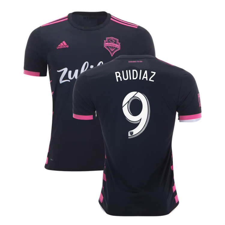 quality design b8c81 4305a Raul Ruidiaz #9 Seattle Sounders 2019 Away Jersey Men's Stadium Soccer Kit  sold by JerseyHunt