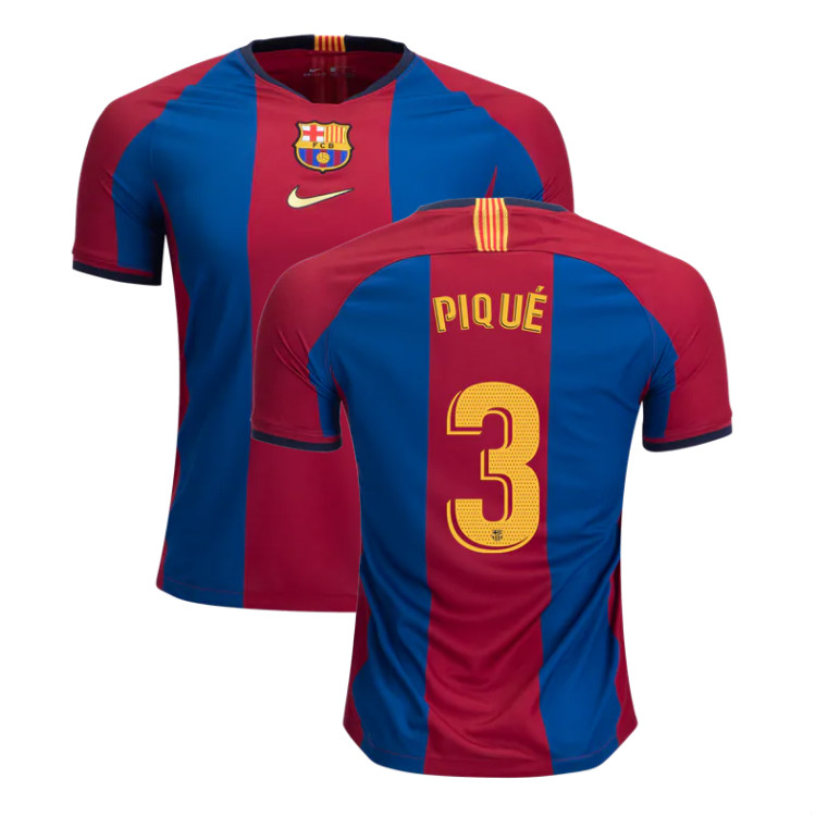 new arrival 698fb a9916 Gerard Pique Barcelona 2019 Limited Edition Soccer Jersey Men's Stadium  Soccer Shirt El Clasico sold by JerseyHunt