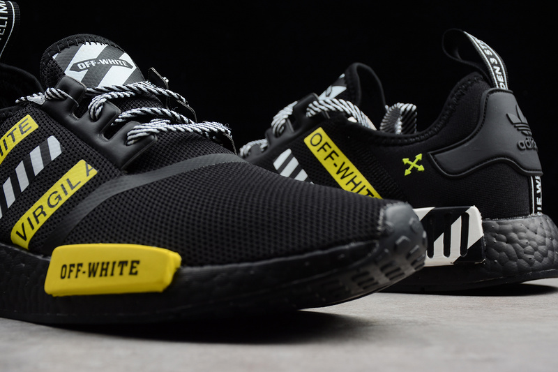 new concept ef3d3 210e6 OFF-WHITE X Adidas NMD Boost R1 Black runner shoes sold by Casidy