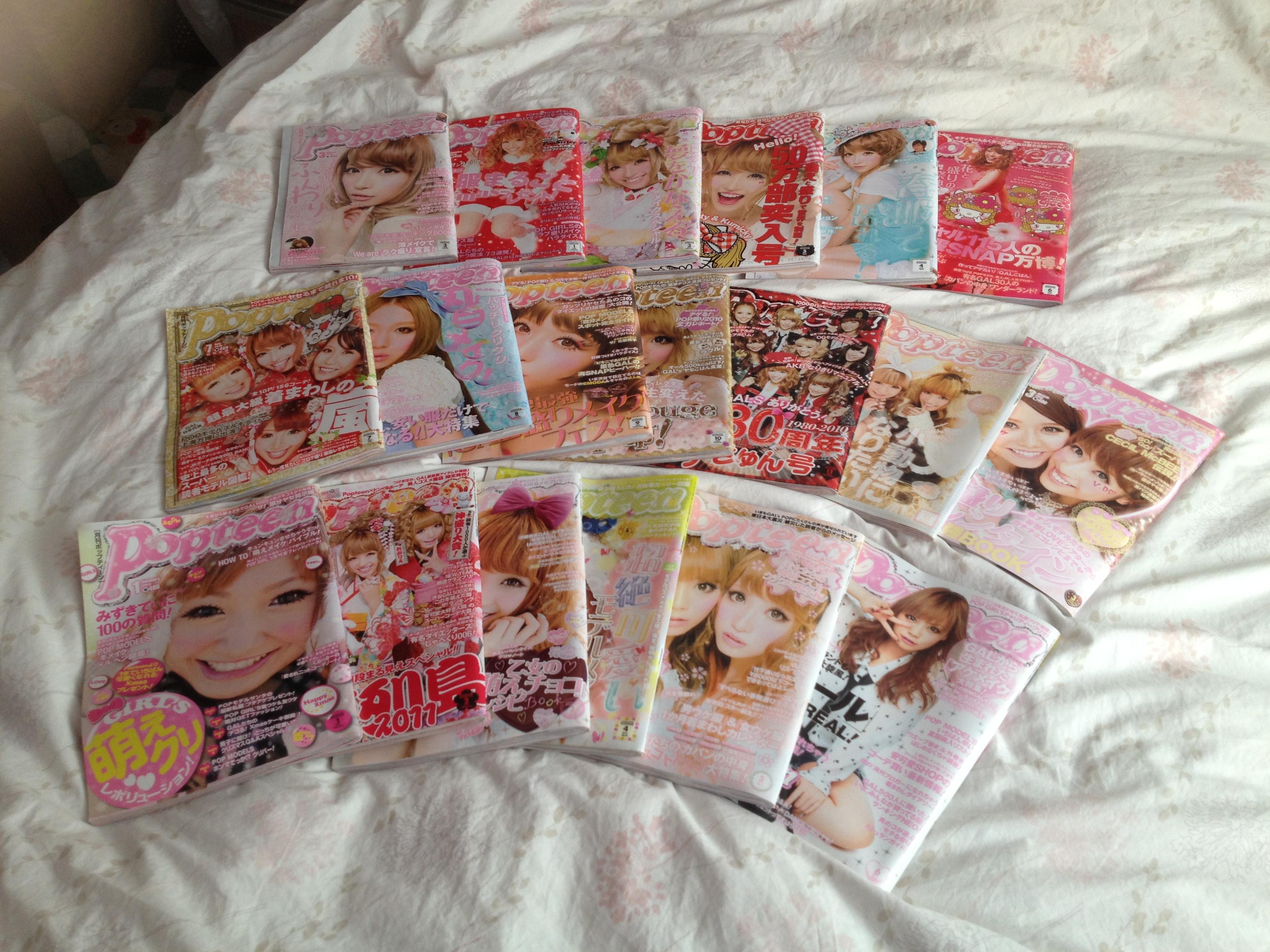 Popteen Japanese Teen Gyaru Girl Magazines One Year Series 2010, 2011