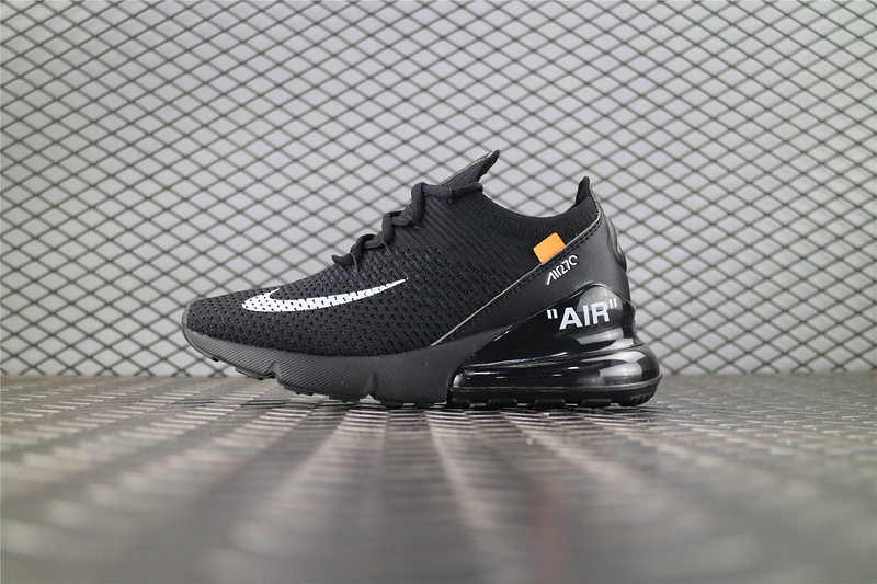 f572577349bc OFF-WHITE x Nike Air Max 270 FLYKNIT Women Men Fashion Sports Leisure Running  Shoes