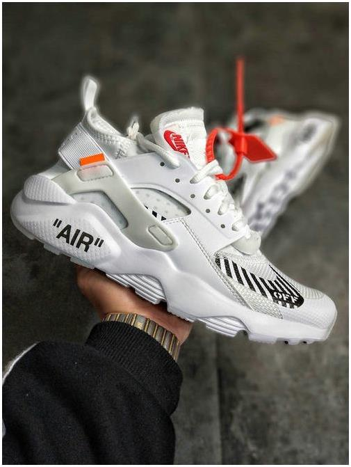new styles af575 70a5e The Lastest Footwear OFF WHITE x Nike Air Huarache Ultra OW White Orange  Running Shoe Huarache Factory Outlet