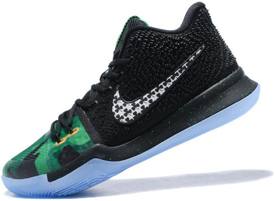 best service f91dd e91c1 Nike Kyrie 3 'Halloween' Black Green For Sale from BELLDRESS