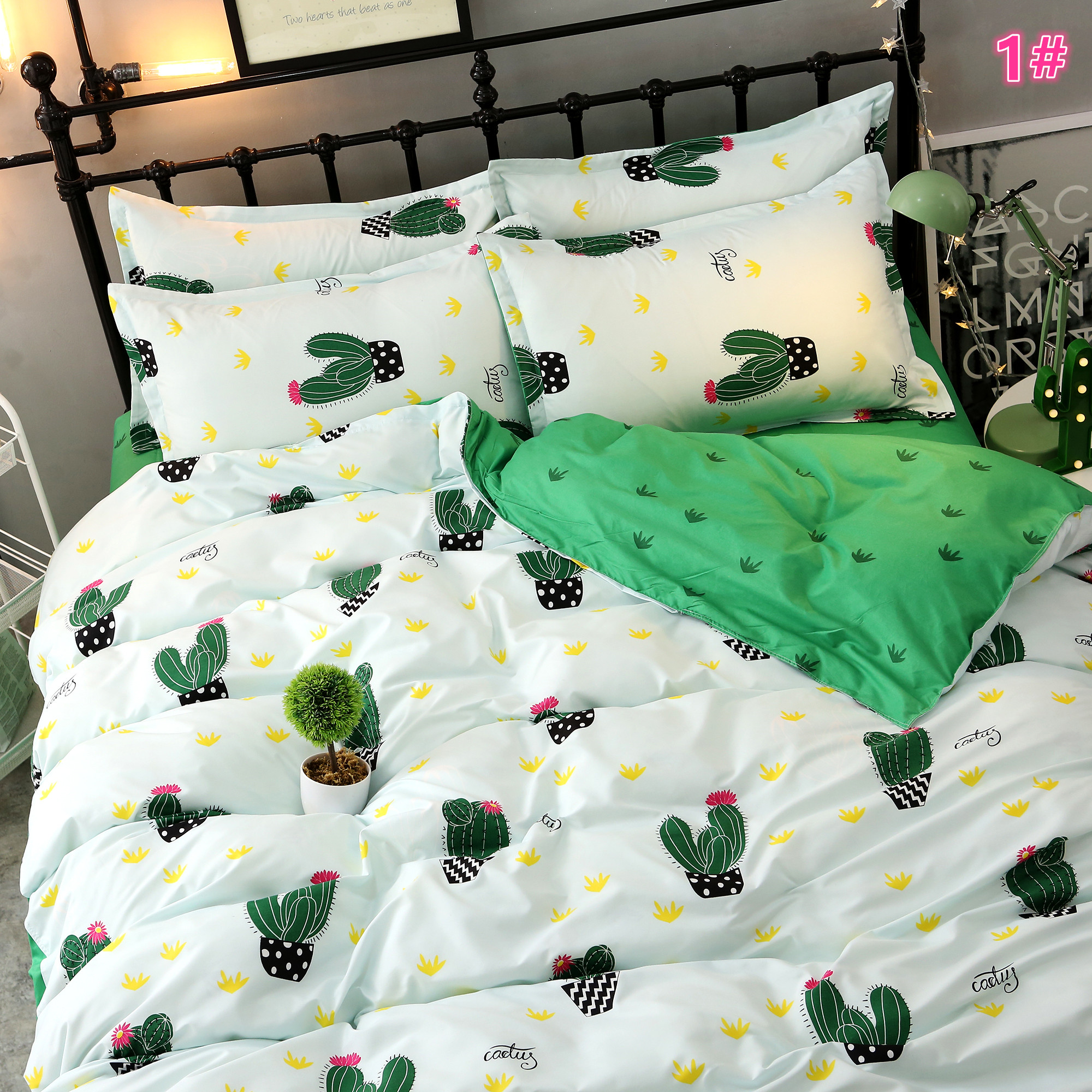 New Cactus Radish Cute Bed Linen Set Of Four Sets Harajuku Fashion Online Store Powered By Storenvy