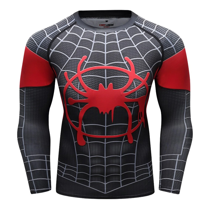 880a8e23 Spider-Man: Into the Spider-Verse: Miles Morales Men's Compression T ...