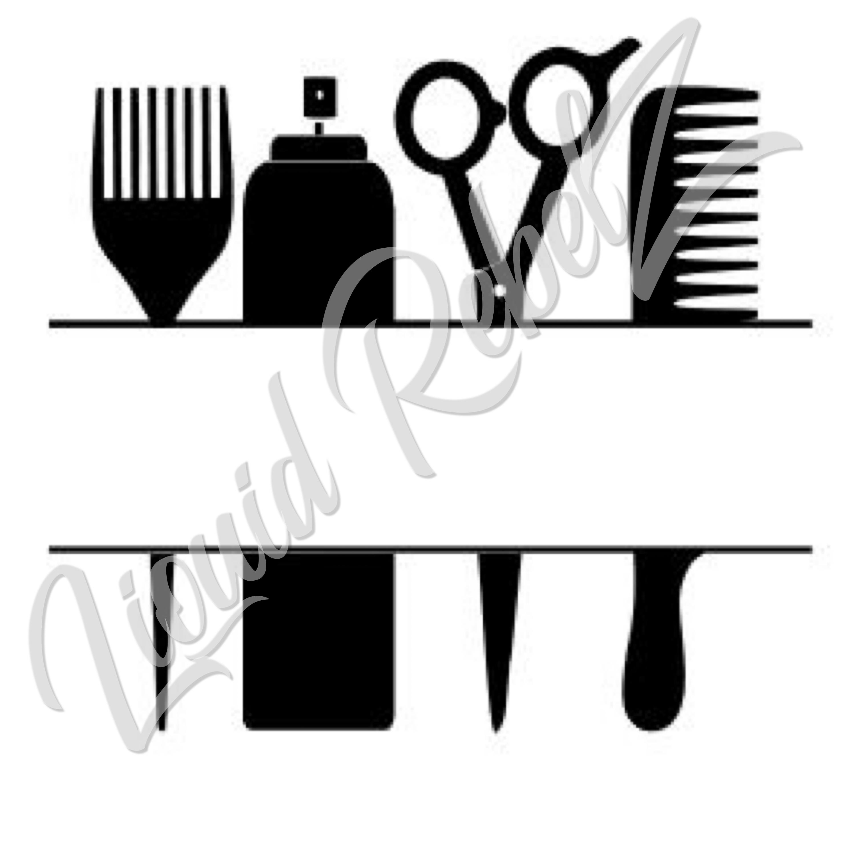 Hairdresser Monogram Svg 183 Jatdesigns 183 Online Store