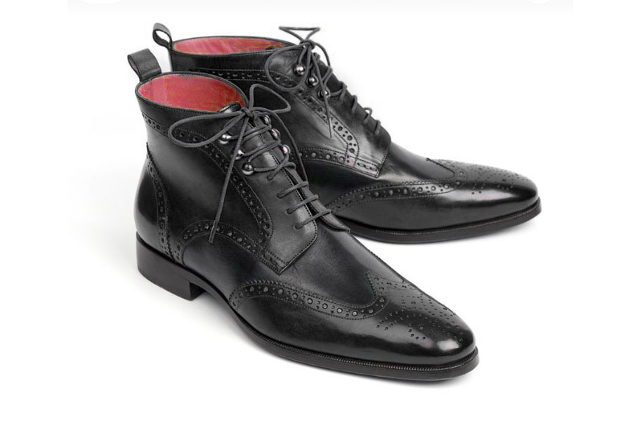cded0c4d3c0 Handmade Leather Wing Tip Boot Men's Lace Up Black Brogue Ankle Boot, Dress  Formal