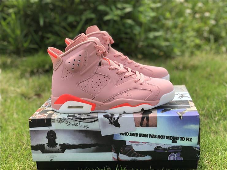 best service cd581 7c3e0 Air Jordan 6 Retro 'Millennial Pink Aleali May sold by Hood Pioneers