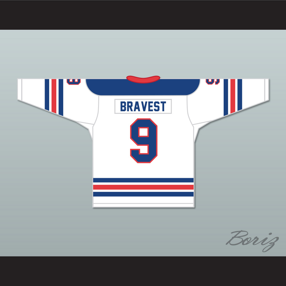 00db82a3a33 FDNY Bravest 9 White Hockey Jersey Design 1 with Patch ...