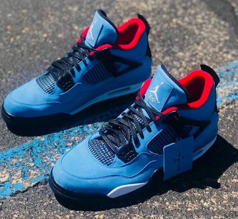 "d27d2cfdaa825 Nike Air Jordan 4 Retro Travis Scott Cactus Jack ""Houston Oilers"" Shoes"