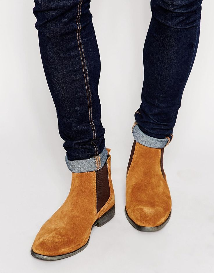 Handmade Men Rock style Tan suede Chelsea boots, Men suede ankle boots, Men casual boots from Rangoli Collection