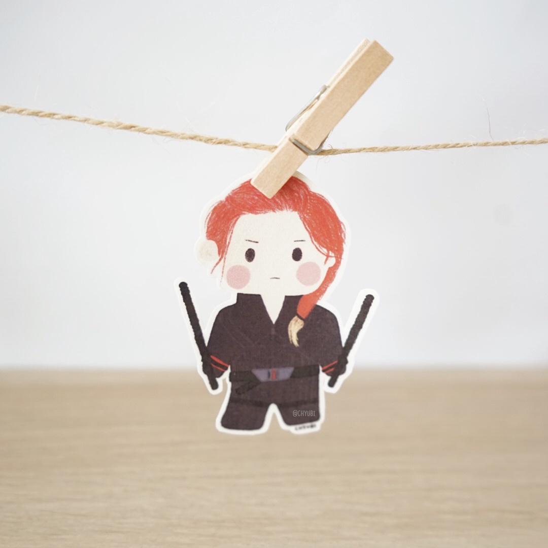 Nat Black Widow Sticker Sold By Chyubi