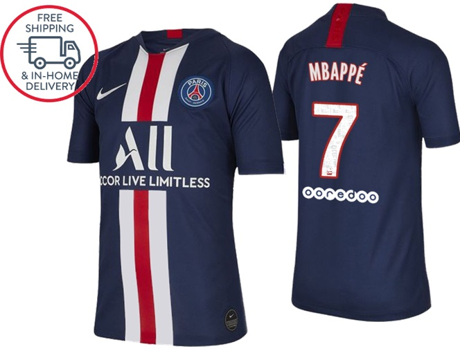 innovative design c9357 98f70 Kylian Mbappé #7 Paris Saint-Germain 19-20 Jersey jersey men Soccer Home  shirt Blue from isacctex