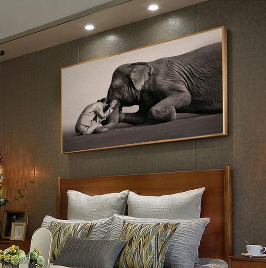 Modern Elephant Wall Art Print Zen Mediation Living Room On Canvas Wall  Decor ME,Z1000 from Belladonna Home Decor