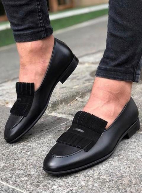 Weekend Sale Men Black Calf Leather