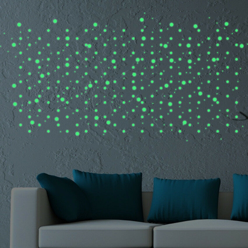 Glow In The Dark Room Decor.407pcs Dot Luminous Star Wall Stickers Home Room Decor Glow