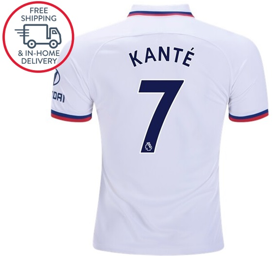 new style bd5ef 71272 N'Golo Kante Chelsea #7 Away Men Jersey Soccer 19 20 Shirts White from  isacctex