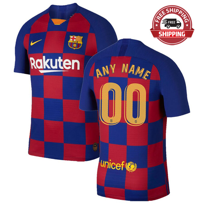 best loved af5d3 43881 Custom Name Barcelona Home Jersey Shirt Adult 19/20 2019 2020 Mens from  TopSeller2017