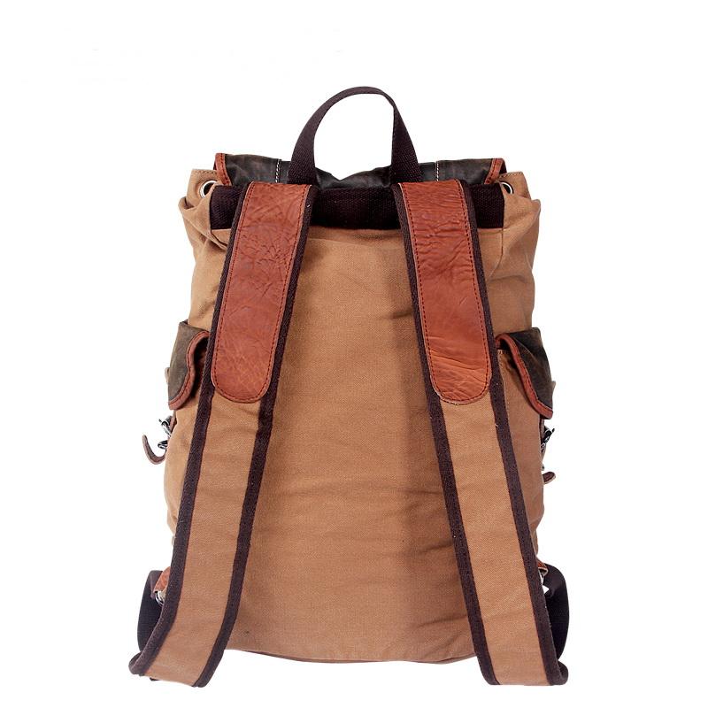 07e99bcd7fd1 ... Retro leather-trimmed canvas hunter backpacks - Thumbnail 2 ...