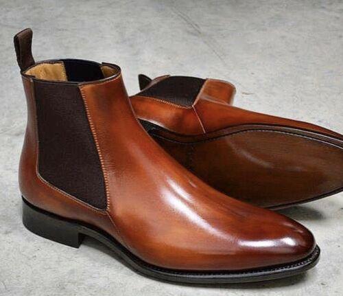 mens tan dress boots