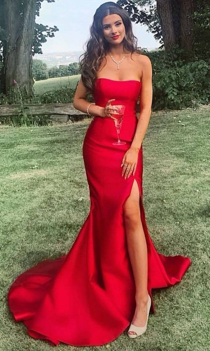 2020 long prom dresses, strapless