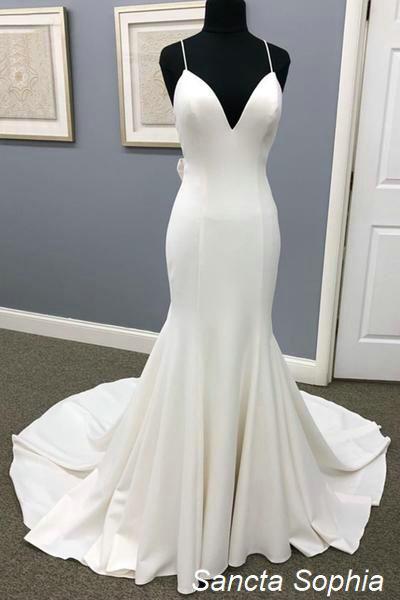 Spaghetti Straps Fitted Informal Backless Wedding Dress Sancta Sophia Online Store Powered By Storenvy