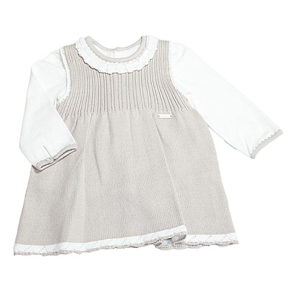 1b6d3410ff3 Mayoral Newborn Girls Knit Pinafore Set · Bambini en Vogue · Online ...
