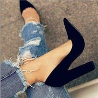 Black Pointed Women Shoes High Heels Party Wedding G9852 - Thumbnail 2